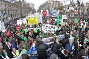 PAH, manifestación Barcelona 16F - EFE
